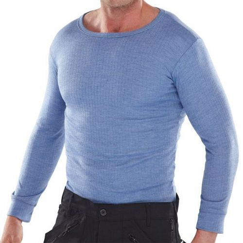 Click Thermal Blue Long Sleeve Vest